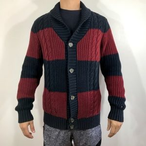 Tommy Hilfiger cable knit shawl neck cardigan